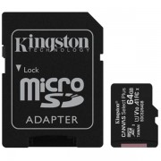 Kingston Canvas Select Plus 64GB Micro SD Uhs-i (U1) Flash Card With A