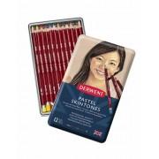 Derwent Pastel 12 pastel potloden in een blik (Skintones)