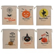 Tradico® 6Pcs Halloween Pumpkin Ghost Witch Candy Bag Kids Trick Or Treat Tote Bags