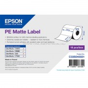 PE Matte Label - Die-cut Roll: 76mm x 127mm, 220 labels C33S045551
