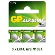 GP Alkaline Cell LR44 3 pack