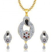 Sukkhi Alluring Gold And Rhodium Plated CZ Pendant Set For Women