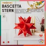 "Folia Transparentpapier-Faltblätter ""Bascetta-Stern"" rot, 20 x 20 cm, 32 Blatt"