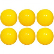 SAS Playing level - For Unisex Cricket Rubber Ball (Pack of 6) (Yellow)