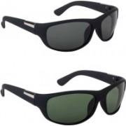 preeti designs Sports Sunglasses(Black, Green)