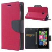 Mercury Goospery Fancy Diary Wallet Case for Nokia Lumia 630 635 - Hot Pink