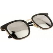 Aislin Retro Square Sunglasses(Silver)