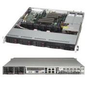 Supermicro SYS-1028R-MCTR sistema barebone per server Intel® C612 LGA 2011 (Socket R) 1U Alluminio, Nero