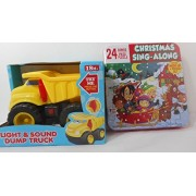 Bundle - Light and Sound Vehicle Dump Truck, and Christmas Sing-Along 24 Song Cd and Puzzle Set by Unknown, Sonoma