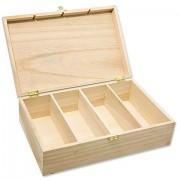 Teebox aus Holz, 31 x 20 x 9 cm