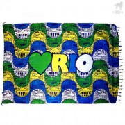 CA-RIO-CA Love Rio Canga Beach Towel CRC-C101000