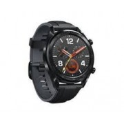 "Huawei Watch GT 1,4"" Black Stainless Steel Black Silicone Strap Svart"