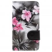 Capa tipo Carteira Floral para LG K4 - Preto