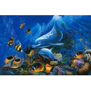 Tomax Miracle of Life 1000 Piece Glow-in-the-dark Dolphin Jigsaw Puzzle