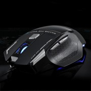 AULA Series SoulKiller II Colourful Light 7D Optical Competitive USB Wired Game Mouse Maximum Resolution of 3500 DPI(Black)