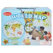 Puzzle de lemn Harta Lumii 36 piese