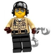 Lego Collectable Minifigures: Motorcycle Traffic Cop Minifigure - Series 2 - Bagged