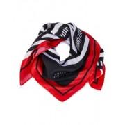 MADELEINE Soie Carré femme noir/blanc/rouge / rouge