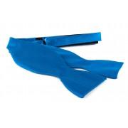 Selbstbinder Fliege Seide Ozeanblau F32 - Blau