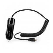 Astrum CC390 iPhone/iPad lightning 8 pin MFI engedélyes autós töltő spirál kábellel 2,4A fekete