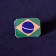 Bottom photo-Pin Stainless Steel Flag of Brazil