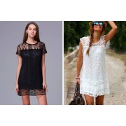 AC Electronic Limited- Domo Secret £7.99 instead of £29.99 (from Domo Secret) for a lace beach dress - choose from three colours and save 73%