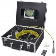 vidaXL Камера за инспектиране на тръби 30 м и контр. кутия за видео запис