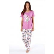 Дамска памучна пижама Parrot pink