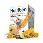 Papa não láctea multicereais mel e bolacha maria a partir dos 6meses 600g - Nutriben