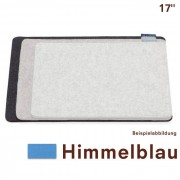 Macbook Bag Filz Himmelblau 17'' Hey-Sign
