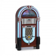 Auna Graceland DAB, jukebox, BT, CD, vinil, DAB+/FM, USB, SD, AUX bemenet, LED lámpa (BX-Graceland All+DAB)