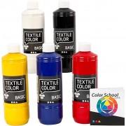 Creativ Company Textile Color textilfärg, 5x500 ml, mixade färger