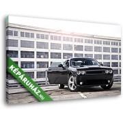 Fekete Dodge Challenger (40x25 cm, Vászonkép )