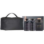 Bvlgari Man In Black lote de regalo VI. eau de parfum 100 ml + bálsamo after shave 75 ml + gel de ducha 75 ml + bolsa para cosméticos