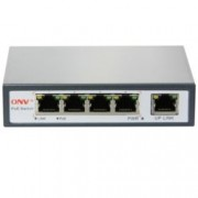Суич ONV PoE POE31004P-AT, 100Mbps, 4x ports, 1x Ethernet Uplink, PoE Ports