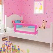 vidaXL Toddler Safety Bed Rail 102 x 42 cm Pink