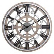 Ceas din lemn si metal Omnia