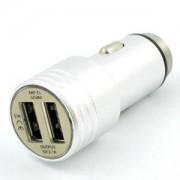 Зарядно устройство за кола DIVA, 2 x USB, Сребристо, DUSB2MS