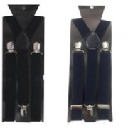 atyourdoor Y- Back Suspenders for Men(Black, Blue)