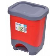 Cos de gunoi EKO 8 l cu galeata si maner rosu