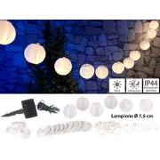 Solar-LED-Lichterkette, warmweiss, mit 20 weissen Lampions, 3,8 m, IP44 | Solar Lichterkette