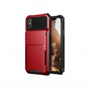 Funda IPhone X Xs USO RUDO Marca VRS DESIGN (VERUS) Modelo Damda Folder - Rojo