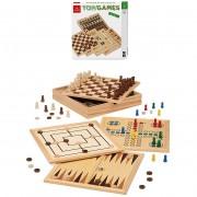 Dal negro 53560 - top games kit di 5 famosi giochi da tavolo scacchi, dama, tria, backgammon, ludo