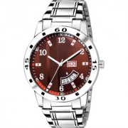 Lava Creation Analogue Maroon Dial Day And Date Function watch for Gentlemen Premium Quality Men's Watch ( 2033-MR )