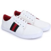 D-SNEAKERZ Synthetic Leather Light Weight Shoes Designer Shoes for Men - Stylish Casual Shoes,Sneakers for Boys and Men Sneakers For Men(White)