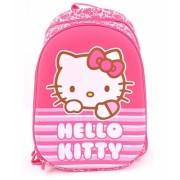 Ghiozdan clasele 1/4 2 fermoare roz dungi Hello Kitty Pigna