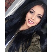 Sellers Destination Synthetic Long Straight Hair Wigs Black color Full Wig for Women Middle Part Heat Resistant Wigs Long Wigs for Black Women