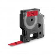 Etichete autocolante DYMO LabelManager D1 12mm x 7m negru rosu 45017 S0720570