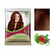 Nisha Henna Based Hair Color Powder With Precious Herbs 10-in-1 15gm Natural Brown Pack of 10