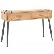 vidaXL Console Table Solid Fir Wood 115x40.5x76 cm